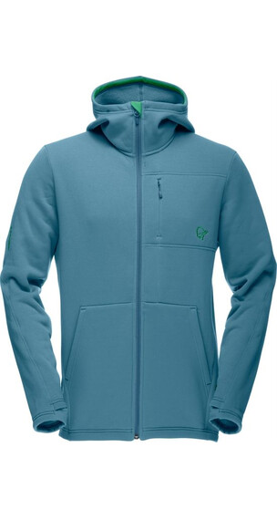 Norrøna M's Narvik Warm2 stretch Zip Hood Bluegrass (2315)
